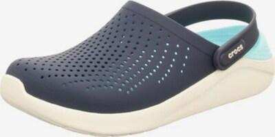 Crocs Pantoletten in navy / weiß, Produktansicht