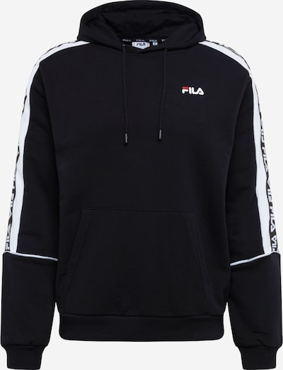FILA Sweatshirt 'Tefo' in de kleur Zwart / Wit, Productweergave