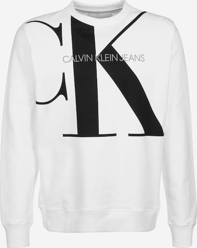 Calvin Klein Jeans Mikina 'Upscale Monogram' - sivá / čierna / biela, Produkt
