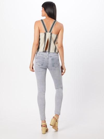 Džinsai 'Pixie' iš Pepe Jeans , spalva - pilka: Vaizdas iš galinės pusės