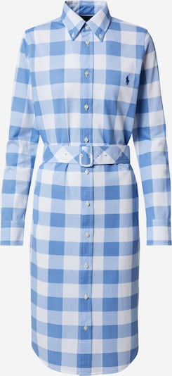 POLO RALPH LAUREN Рокля тип риза 'HEIDI DRS BL-LONG SLEEVE-CASUAL DRESS' в светлосиньо / бяло, Преглед на продукта