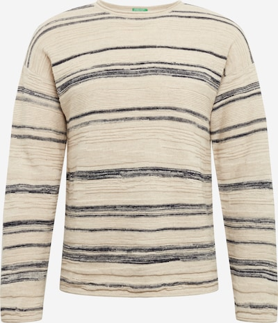 UNITED COLORS OF BENETTON Pullover in beige / navy, Produktansicht