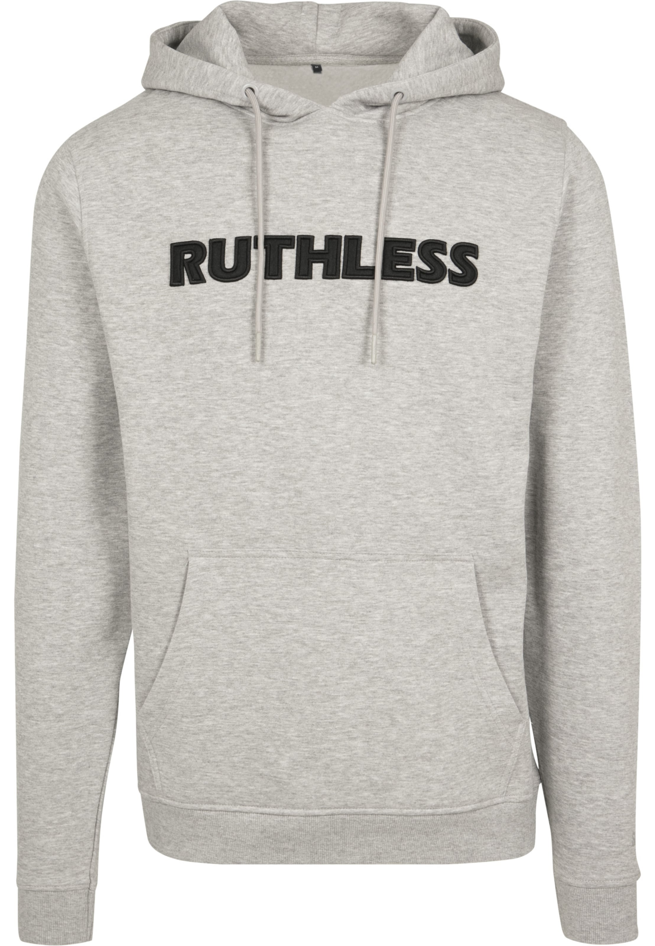 Tee Embroidery Mister Graumeliert Ruthless Hoody In eYWEH9bID2