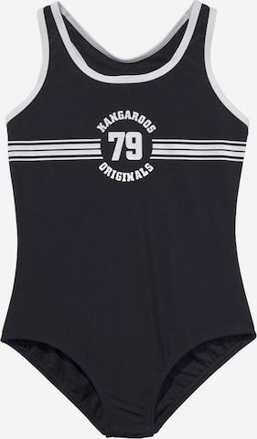 KangaROOS Badeanzug 'Sporty' in Schwarz