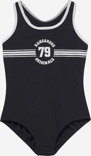 KangaROOS Badeanzug 'Sporty' in schwarz / weiß, Produktansicht
