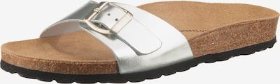 JOLANA & FENENA Komfort-Pantoletten in silber, Produktansicht