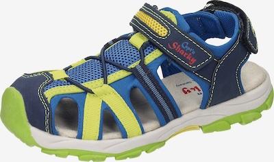 SPIEGELBURG Sandalette ' Capt´n Sharky' in blau / marine / gelb / hellgrün / weiß, Produktansicht