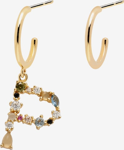 P D PAOLA Ohrring 'Letter P Earrings' in gold / mischfarben, Produktansicht