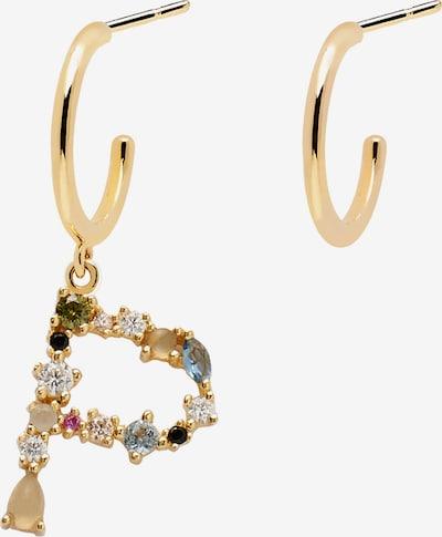 P D PAOLA Náušnice 'Letter P Earrings' - zlatá / mix barev, Produkt