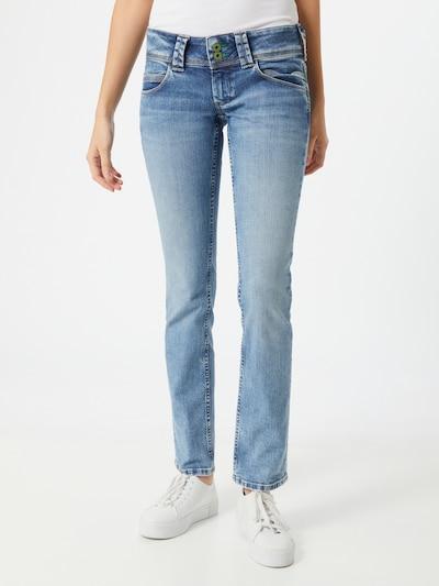Pepe Jeans Jeans 'Venus' i blå denim, På modell