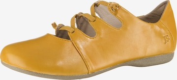 JOSEF SEIBEL Ballet Flats with Strap 'Fiona' in Yellow