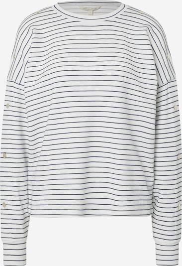 TOM TAILOR DENIM Sweat-shirt en bleu marine / blanc cassé, Vue avec produit