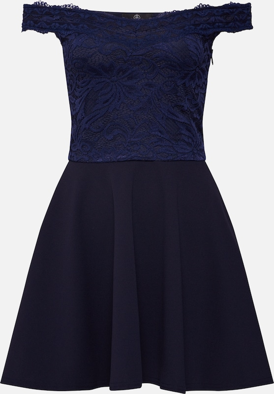 Missguided Kleid 'Bardot Lace' in navy: Frontalansicht