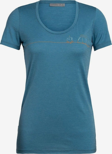 Icebreaker T-Shirt 'Tech Lite SS Scoop Single Line Camp' in himmelblau / hellblau / orange, Produktansicht