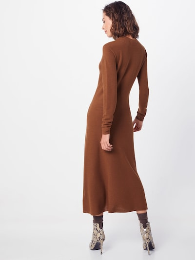 SET Sukienka z dzianiny w kolorze brązowym: Widok od tyłu