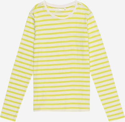 KIDS ONLY Shirt 'KONPURE L/S TOP JRS' in de kleur Geel / Wit, Productweergave