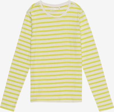 KIDS ONLY Shirt 'KONPURE L/S TOP JRS' in gelb / weiß, Produktansicht