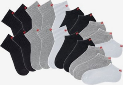 H.I.S Sokken in de kleur Grijs / Zwart / Wit, Productweergave