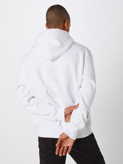 ALPHA INDUSTRIES Hoody 'Small Logo' in weiß: Rückansicht