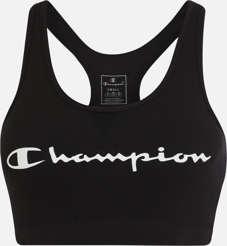 Champion Authentic Athletic Apparel Sport-BH in schwarz / weiß, Produktansicht