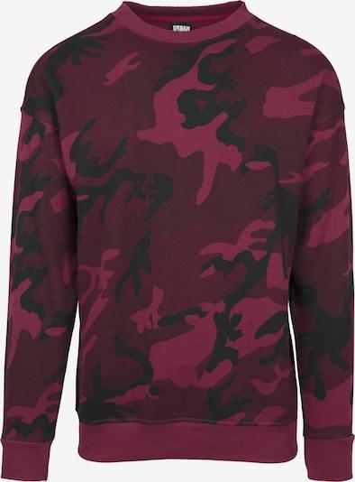 Urban Classics Sweater mit Crewneck in burgunder / schwarz, Produktansicht