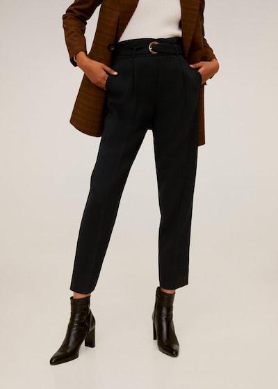 MANGO Spodnie w kant 'Manuel' w kolorze czarnym, Podgląd na modelu(-ce)