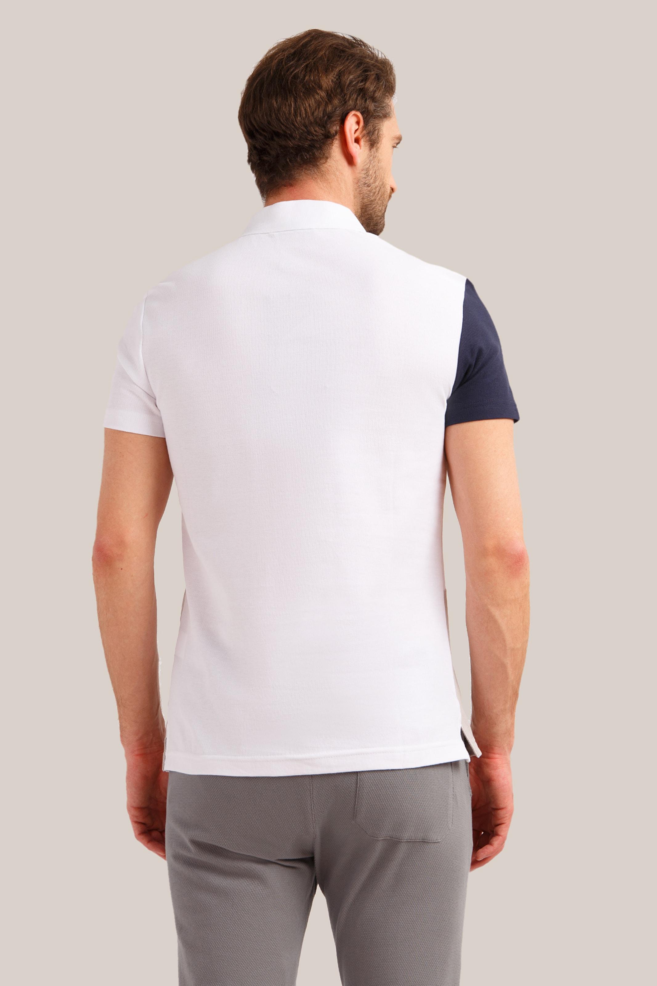 Flare CamelMarine In Finn Weiß Shirt gvb6IYf7y