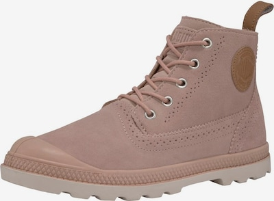 Palladium 'London LP' Schnürstiefeletten in rosa, Produktansicht