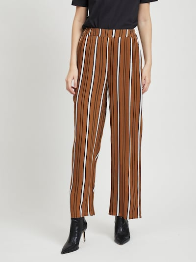 VILA Hose in ocker / schwarz / weiß, Modelansicht