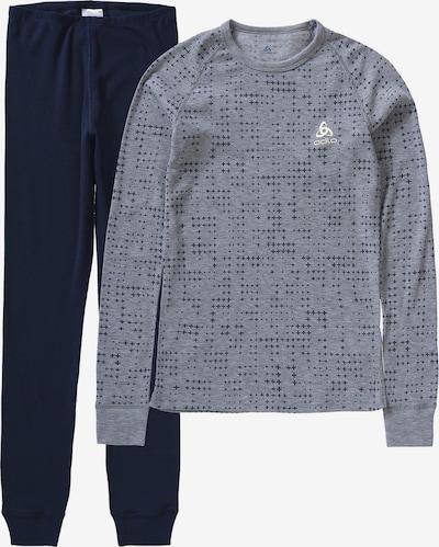 ODLO Unterwäsche-Set 'Warm' in blau / grau, Produktansicht