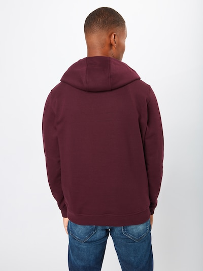 Urban Classics Sweatshirt 'Basic Sweat Hoody' in weinrot: Rückansicht