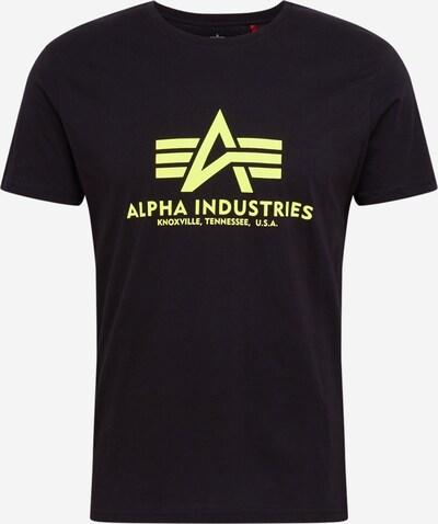 ALPHA INDUSTRIES Tričko 'Basic T Neon Print' - neónová žltá / čierna, Produkt