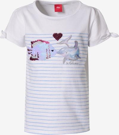 s.Oliver Shirt in hellblau / mischfarben / weiß, Produktansicht