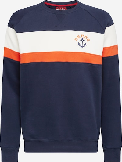 Derbe Sweatshirt in navy / orange / weiß, Produktansicht