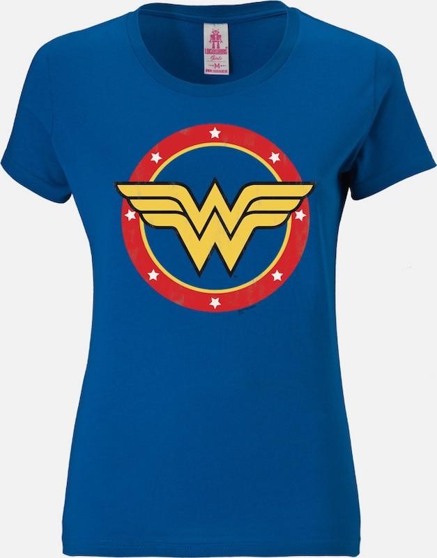 LOGOSHIRT T Shirt 'Wonder Woman' in basaltgrau mischfarben