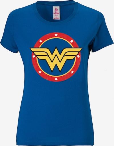 LOGOSHIRT T-Shirt 'Wonder Woman - Logo Circle' in blau / gelb / rot, Produktansicht
