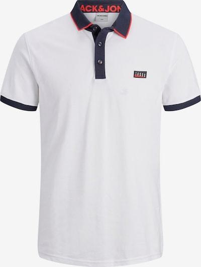JACK & JONES Shirt in de kleur Donkerblauw / Lichtrood / Wit, Productweergave