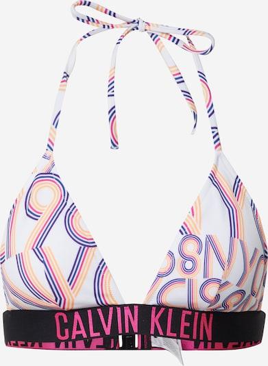 Calvin Klein Swimwear Bikinitop in pink / schwarz / weiß, Produktansicht
