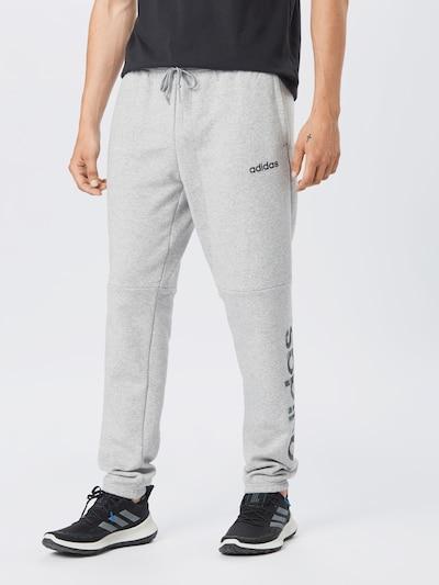 ADIDAS PERFORMANCE Pantalon de sport en gris chiné / noir: Vue de face
