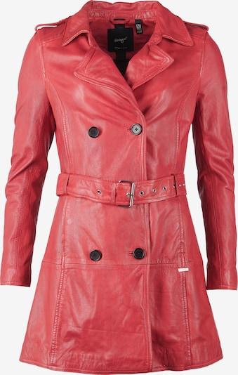Maze Lederlangjacke mit Hüftgürtel ' Culima ' in rot, Produktansicht