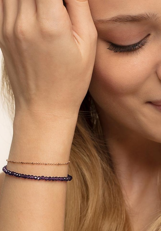 Thomas Sabo Armband 'Violett, A1718-061-13-L19v'