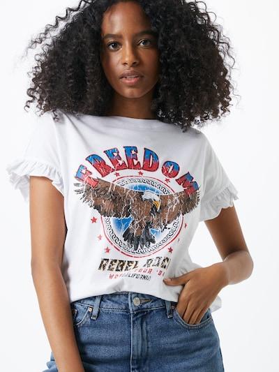 VILA Koszulka 'DITAS' w kolorze mieszane kolory / białym, Podgląd na modelu(-ce)