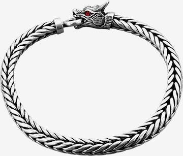 KUZZOI Bracelet 'Drache' in Silver