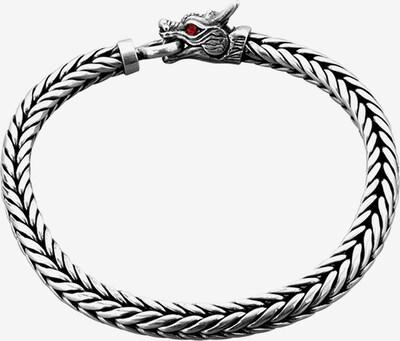 KUZZOI Armband 'Drache' in silber, Produktansicht