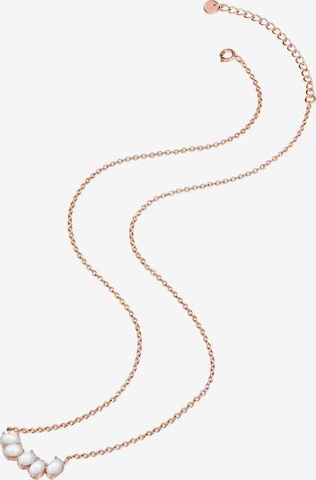 Glanzstücke München Kette in rosegold / weiß, Produktansicht