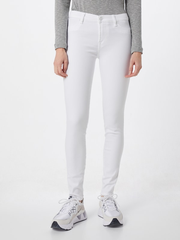 7 for all mankind Jeans 'THE SKINNY SLIM ILLUSION' in weiß: Frontalansicht