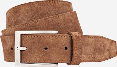 TOM TAILOR Gürtel 'Suede leather belt with stitching' 3.5cm in cognac, Produktansicht