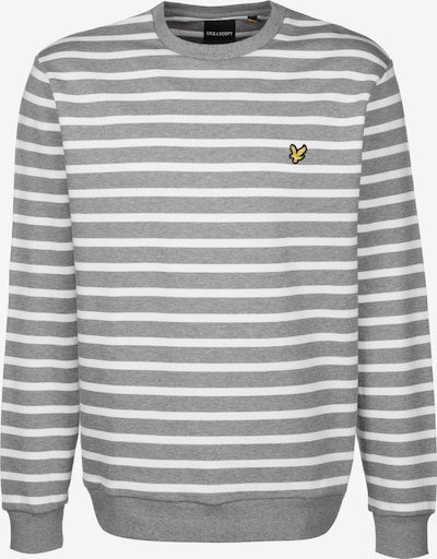 Lyle & Scott Long T-Shirt ' Breton Stripe ' in grau / weiß, Produktansicht