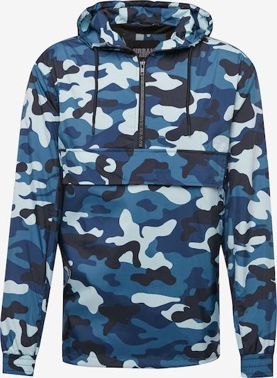 Urban Classics Tussenjas in de kleur Blauw / Lichtblauw / Zwart, Productweergave