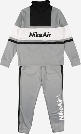 Nike Sportswear Trainingsanzug in grau / schwarz / weiß, Produktansicht